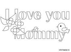 A mummy's valentine coloring page