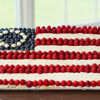 Flag Cake (From Scratch).