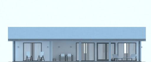 G231 - Budynek letniskowy - Elewacja przednia