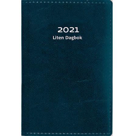 Liten dagbok konstläder blå