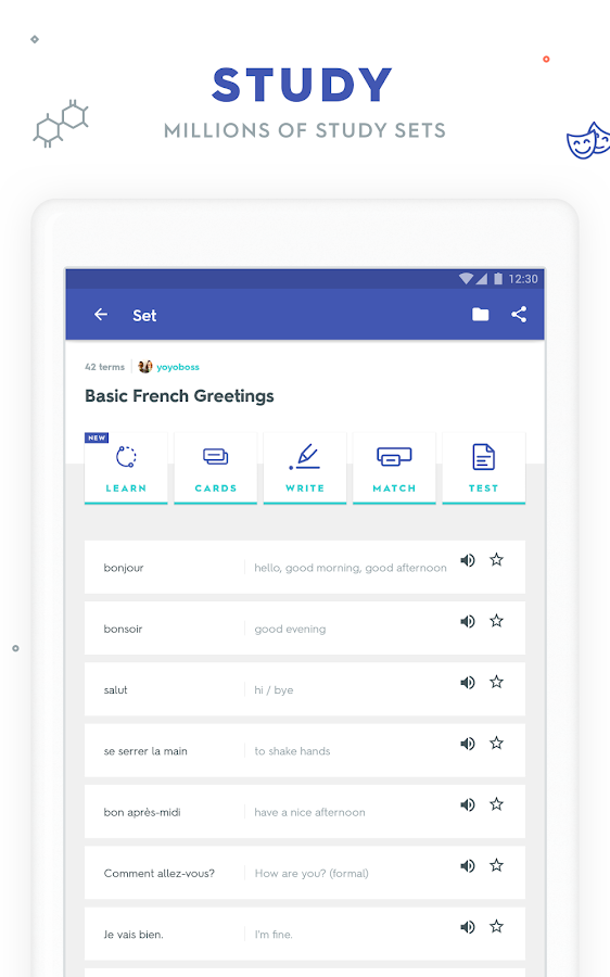 Quizlet: Learn Languages & Vocab with Flashcards– skärmdump