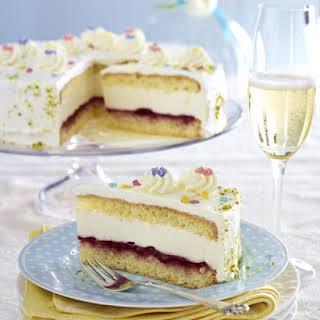 Elderflower and Prosecco Cake.