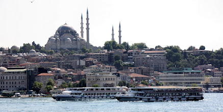 Photo: Day 104 - The Suleymaniye Mosque  Viewed from the Galata Bridge over the Golden Horn