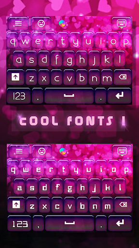 Neon Hearts for Emoji Keyboard