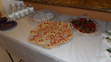 Photo: Cookies, Chocolate , Strawberries, and personalized Water Bottles for your Spa Party by http://www.BestPartyPlanner.net