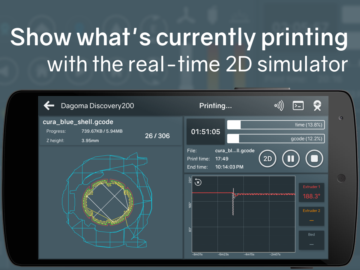 Printoid for OctoPrint [PREMIUM]- screenshot