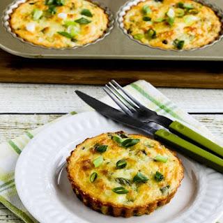 Cheesy Crustless Low-Carb Zucchini Breakfast Tarts.
