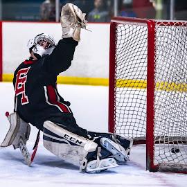 Big Effort by Todd Coleman - Sports & Fitness Ice hockey ( hockey, goalie, winter, ice, sport,  )