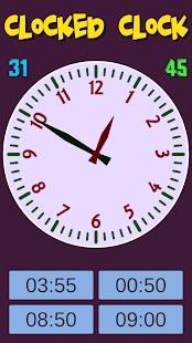 Clocked Clock - Kids learn clock- screenshot thumbnail