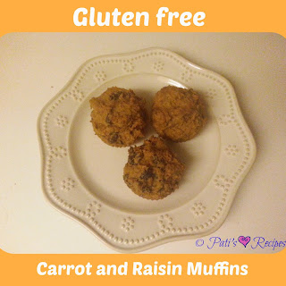 Gluten free Carrot and Raisin Muffins-Vitamix
