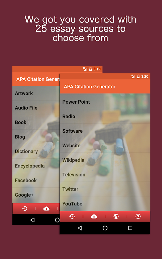 APA Citation Generator- screenshot