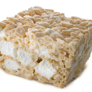 Rice Krispies Treats Birthday Cake.