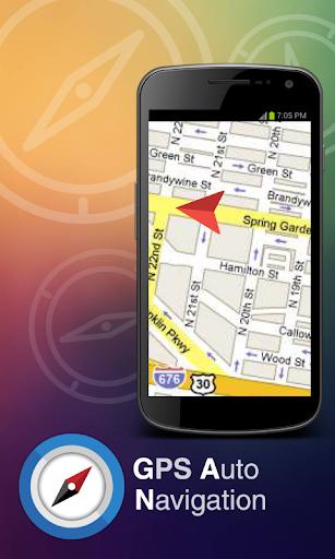 GPS の自動車ナビゲーション