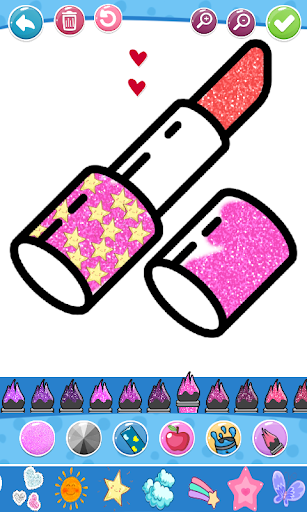 Glitter Beauty Accessories Coloring and drawing  Wallpaper 2