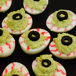 Monster Eyes Deviled Eggs