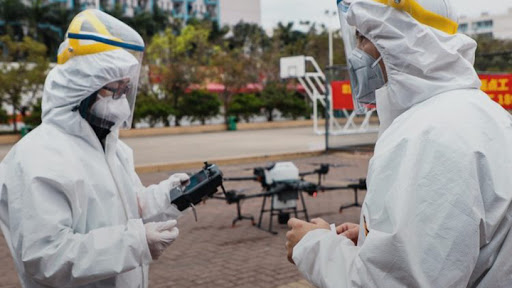 With the use of drones, disinfectant spraying efficiency can be 50 times faster than traditional methods.