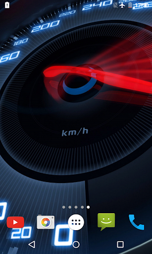 Speedometer Live Wallpaper 3D