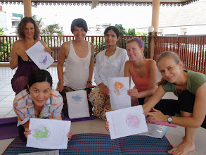 Photo: Yoga teacher trainees during Conceptual Activity (Methodology Class).