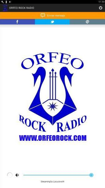 ORFEO ROCK RADIO: captura de pantalla