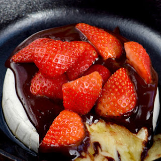 Chocolate Covered Strawberry Baked Brie
