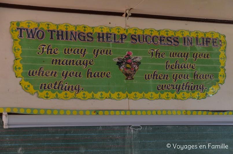 Maligcong, balade rizières, école