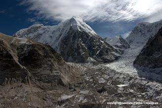 Photo: Four corner jonction des glaciers noirs