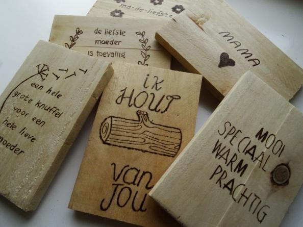 workshop houtbranden brandhout ansichtkaarten creaweekend