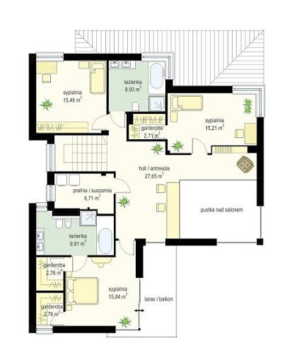 Riwiera 5 - Rzut piętra
