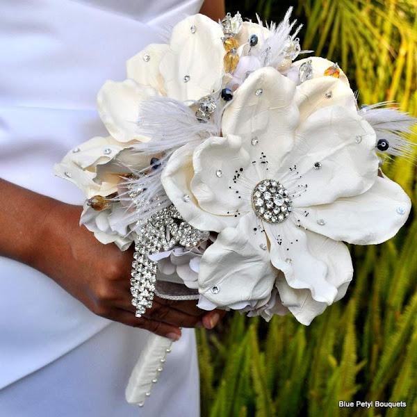 Photo: Empress Magnolia Wedding Bouquet www.bluepetyl.com