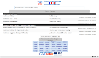 Screenshot of English<>French Dictionary