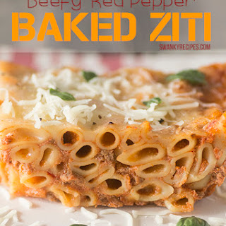 Beefy Red Pepper Baked Ziti with Ragú®
