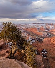 Photo: Dead Horse Point sunrise: desert drama. High resolution composite from 9 images. Bigger and Prints: http://smu.gs/YMiCkA