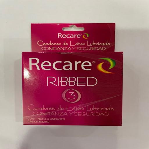preservativo recare ribbed x3 und