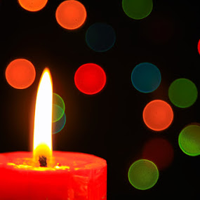 Just Candle Light by Agung Cahyono - Abstract Patterns ( candle, red, light, bokeh )