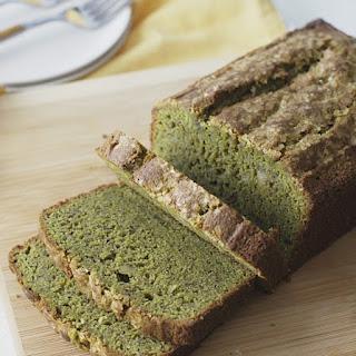 Gluten Free Matcha Green Tea Banana Bread.