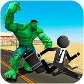 Incredible Monster vs Stickman Crime Hero