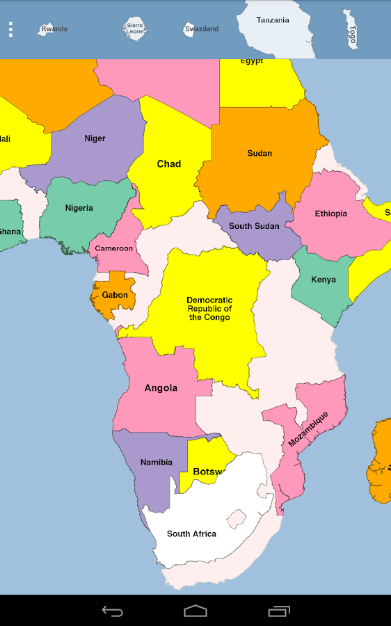 Africa Map Puzzle Android Apps on Google Play