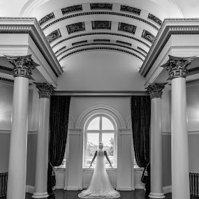 Beautiful Bride by Nigel Hepplewhite - Wedding Bride ( classy, epic, grand, stylish, dress, beautiful, high end, symmetry, bride )