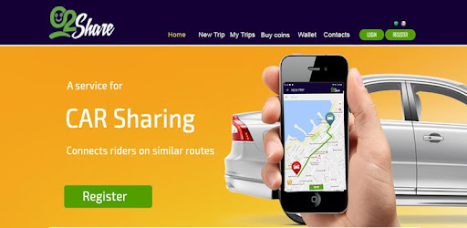 02Share is a carpooling app allows you to share your ride with others