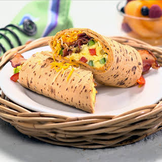 Western Omelet Flatbread Wrap.