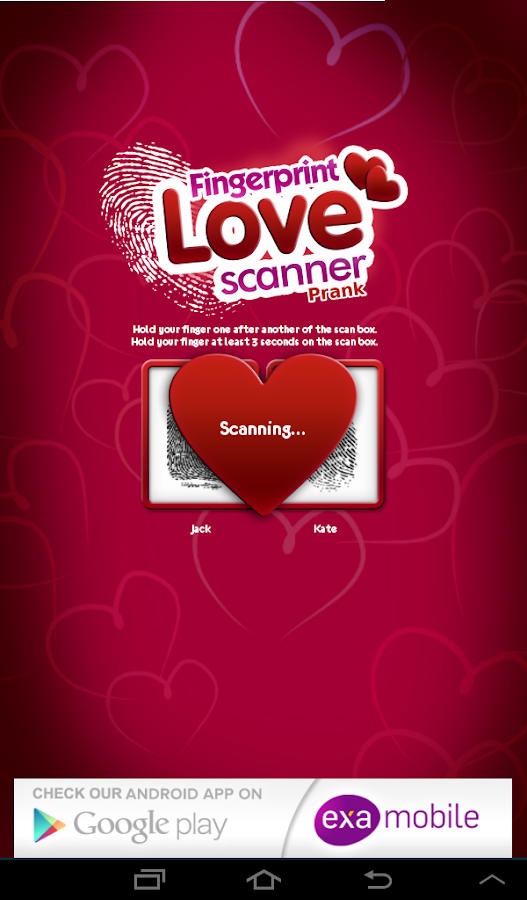 Fingerprint Love Scanner Prank- screenshot