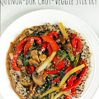 Quinoa and Bok Choy Veggie Stir Fry