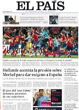 Photo: España, a un paso de la triple corona tras derrotar a Portugal en la tanda de penaltis, Hollande acentúa la presión sobre Merkel para dar oxígeno a España y el juez del 'caso Fabra' denuncia presiones de sus superiores, en la portada del jueves 28 de junio de 2012 http://srv00.epimg.net/pdf/elpais/1aPagina/2012/06/ep-20120628.pdf