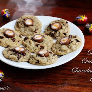 Cadbury Creme Egg Chocolate Chip Cookies.