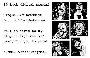 Photo: I said I would be working on a special for people here so here it is. In the next two days I will be making larger size options, color,  originals and more but in the meantime I will kick it off with 20 offered on the cheap.  These will be produced and posted to my blog withing 48 hours of recieving payment and picture.  I use paypal or I also setup a listing for it in my shop for those that prefer to go that route http://www.artfire.com/ext/shop/product_view/9870505