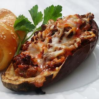 Oven Baked Stuffed Eggplants