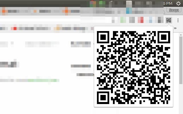 Current Tab QR Code