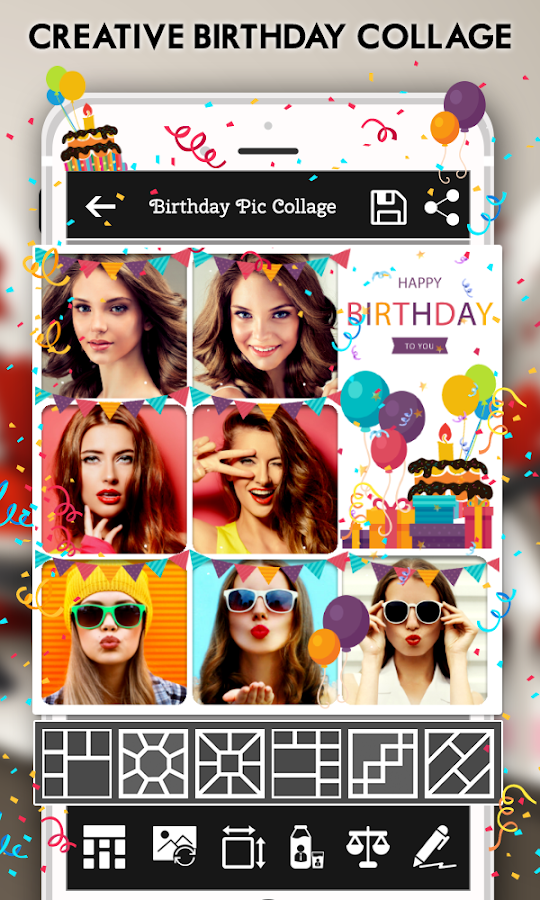 Happy Birthday Cake Status Card Photo Frame Android Apps – Birthday Card Collage