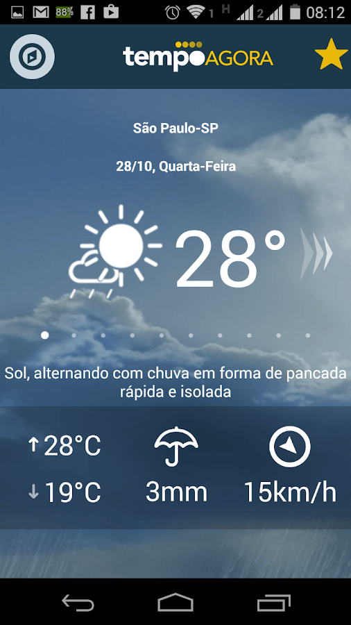 Tempo Agora - 10 days forecast- screenshot