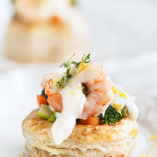 Vol au Vent Recipe with Shrimp and Broccoli | Holiday Appetizers.